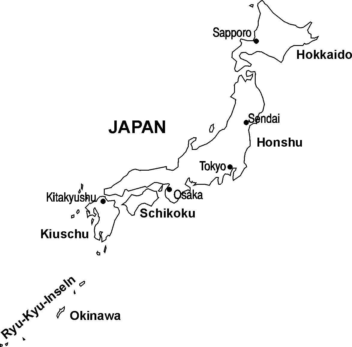 JAPAN-Inseln