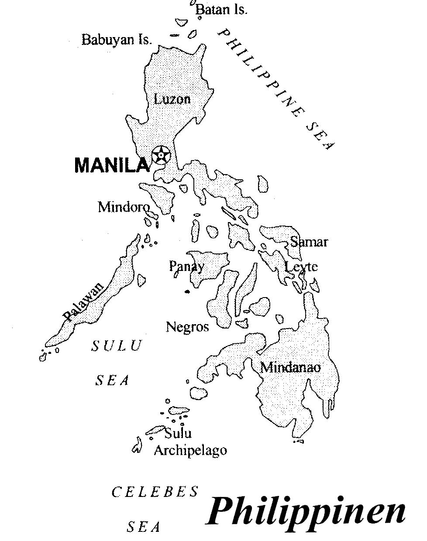 Phillippinen-Karte